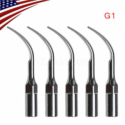 5 Pcs Ultrasonic Dental Scaler Scaling Tips G1 fit for EMS Woodpecker USA n1YS