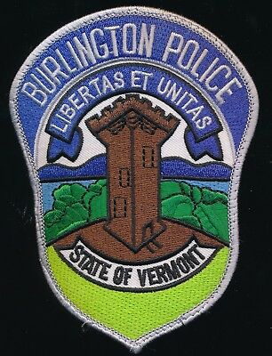 Vermont Burlington Police Department Patch
