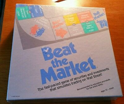 Beat the Market Stock Board Game MCMA Securities Investments Trading vintage