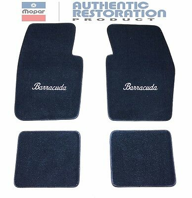 Floor Mats 80/20 Loop Cater 1964-74 Plymouth Barracuda Embroidered Mopar