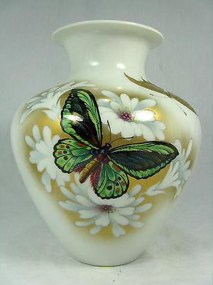 Beautiful handpainted Heinrich & Co. Porzellan Vase Kunstabteilung Chiemsee 20cm