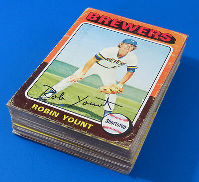 1970's TOPPS HOF ROOKIE & STAR BASEBALL CARDS ~ LOT OF 43 ~ LOWER TO MID GRADE