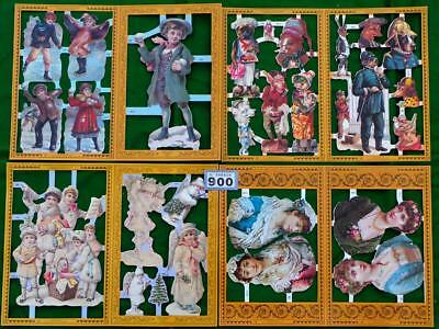 LV900 Mamelok Victorian Scraps Ladies + Children 4  sheets FREE UK shipping