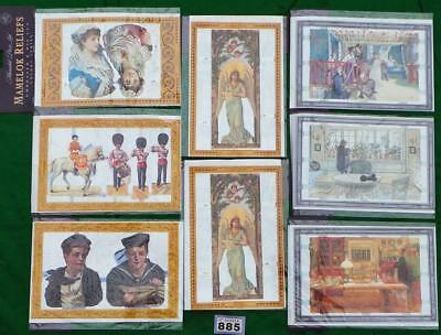 LV885 Mamelok Golden Victorian Scraps - Die Cut Reliefs 8 packs FREE UK shipping