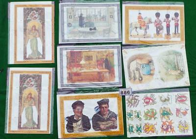 LV886 Mamelok Golden Victorian Scraps - Die Cut Reliefs 8 packs FREE UK shipping