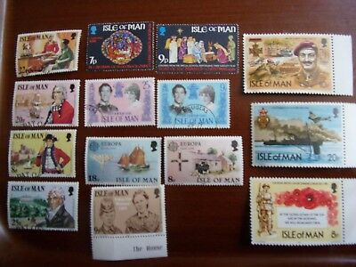Gb Isle Of Man Postage Stamps From 1981