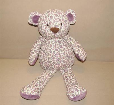 Cocalo Baby Sugar Plum Teddy Bear Purple Flowers Plush Stuffed Nursery Decor