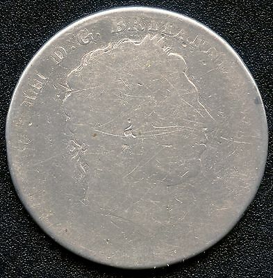 1818 Or 19 Great Britain 1 Crown Coin (28.276 Grams .925 Silver) Can't Read Date