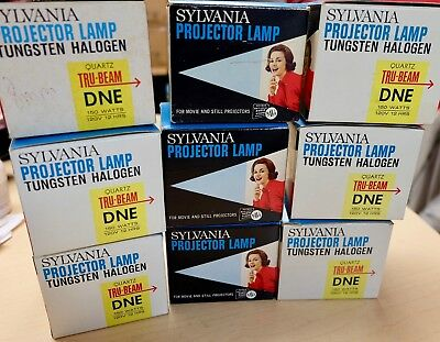 NOS x3 DNE Sylvania Projector Lamp Projection 150w 120v Quartz Halogen FreeShip