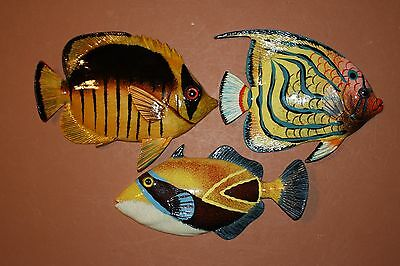 (3) Seafood Restaurant Tropical Decor, Coral Reef Theme, Tropical Fish Art