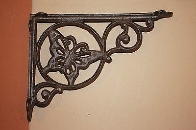 Country Cottage Patio Decor, Butterfly Shelf Brackets | Corbels,Cast Iron B-16-