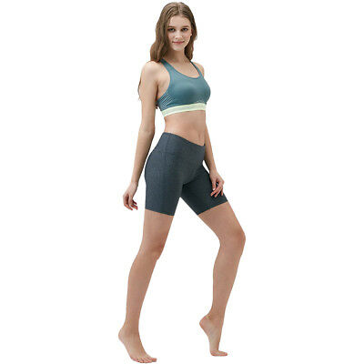 "Tesla FYP11 Women's 7"" Bike Running Yoga Compression Shorts - Heather Charcoal"