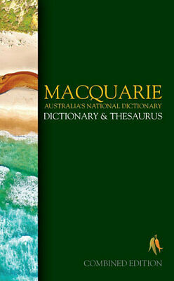 NEW Macquarie Dictionary and Thesaurus By Macquarie Dictionary Hardcover
