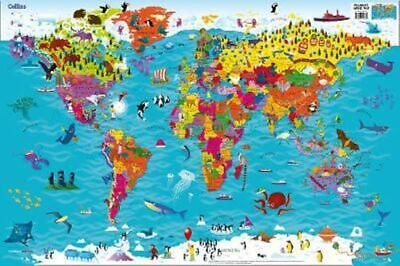 NEW Collins Children's World Map [New Edition] By Collins Maps Free Shipping
