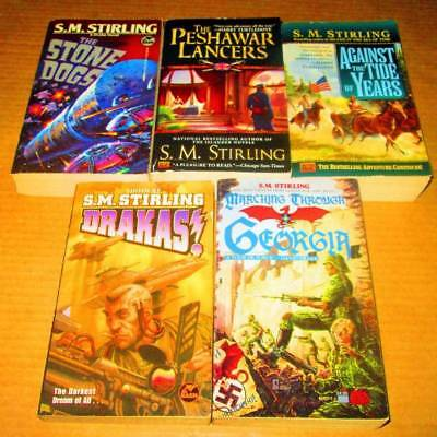 S.M. Stirling Lot of 5 - SCIENCE FICTION/PAPERBACKS-Drakas, The Stone Dogs, Marc