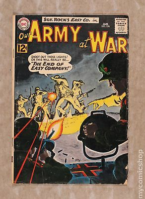 Our Army at War #126 1963 GD 2.0