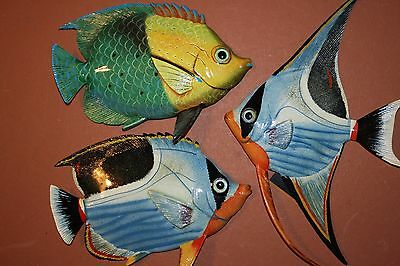 (3), Tropical Restaurant Decor, Island Decor, Tropical Fish Wall Decor, Colorful