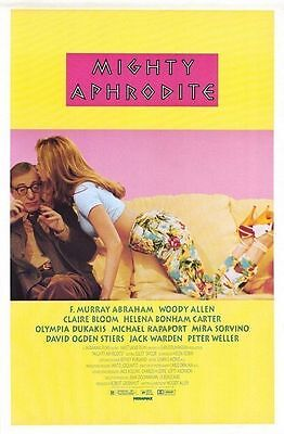 Mighty Aphrodite Original S/S Rolled Movie Poster 27x40 NEW 1995   Woody Allen