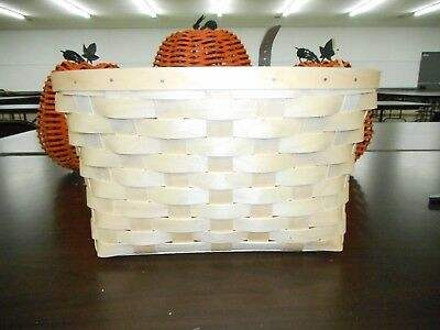 Longaberger Natural Woven Bicycle Basket - Never Used