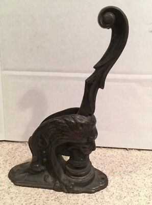 ANTIQUE CAST IRON LION HEAD  STAMP / SEAL Notary Rockland County New York