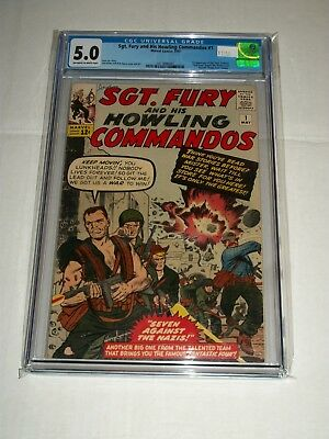 Marvel SGT. FURY AND HIS HOWLING COMMANDOS #1 CGC 5.0 1st App of Sgt. Fury