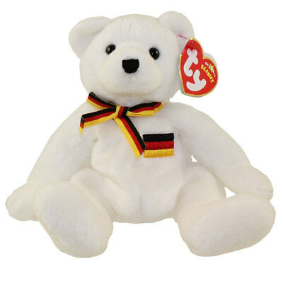 TY Beanie Baby - JURGEN the Bear (Europe Exclusive) (7.5 inch) MWMTs Stuffed Toy