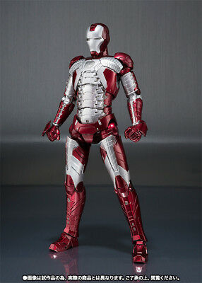 S.H. Figuarts Iron Man Mark MK V 5 and Hall of Armor action figure set Bandai