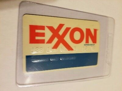 Exxon oil gas company Credit Card Vintage GREAT CONDITION! expired 12/78.