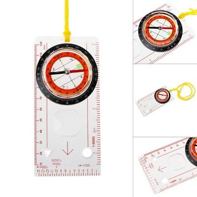 Transparent Compass Direction Guide Orienteering Scouts Army Survival Outdoor