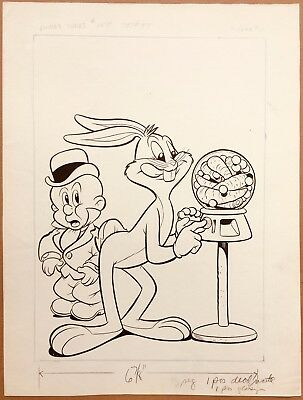 Original Art Cover, Looney Tunes And Merrie Melodies #155 Dell, 1954 Bugs Bunny