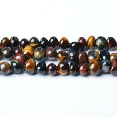 Tiger Eye Nugget Beads 8-10mm Mixed 45+ Pcs Handcut Gemstones Jewellery Making