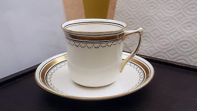 1910 - 33 Edwards And Brown Duchess China Cup And Saucer Gold And Black Trim