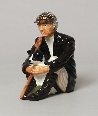Wonderful Vintage Shebeg Isle Of Man Pottery Figure Hill Sheep Farmer Signed