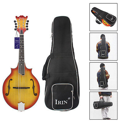 Large Size Thick Soft Case Proctective Shoulder Backpack Mandolin Guitar Handbag