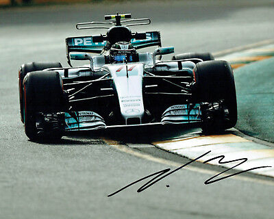 Valtteri BOTTAS SIGNED Mercedes Formula 1 Autograph 10x8 Race Photo AFTAL COA