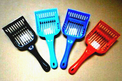 Plastic Cat Litter Scoop Sieve Choice Of 4 Colours For Pet Animal Poop