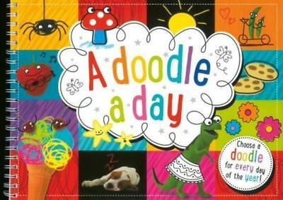 Doodle A Day Yearly Pad Book 366 Pictures Colouring Children Drawing Pattern