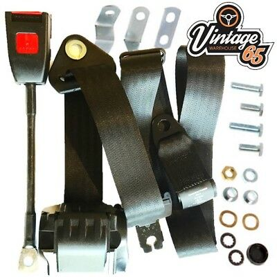 Daimler V8 2.5 Litre V8 250 Saloon 1962>70 Front 3 Point Automatic Seat Belt Kit