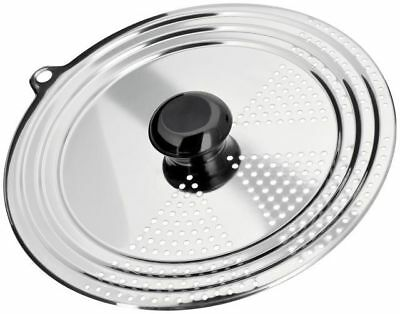 Judge Stainless Steel Universal Draining Lid Fits Most 16 18 20 & 22cm Pans