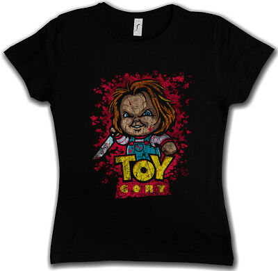 TOY GORY DAMEN T-SHIRT Bride Seed of Story Fun Chucky Gore bloody Child's Play