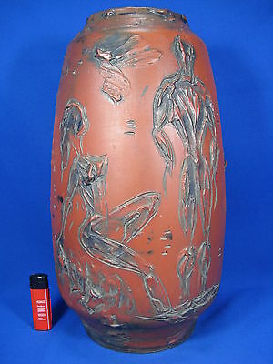 "Very unusual 60´s surrealistic design ""Adam & Eve "" pottery  vase Italy  40,5 cm"