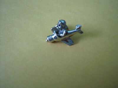 Comic Flying Ace / Fighter Pilot Tie Tack Lapel Pin