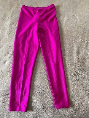 Vintage Women's Cheetah Mervyns Nylon Spandex Tights Shiny Fuchsia Pink Medium