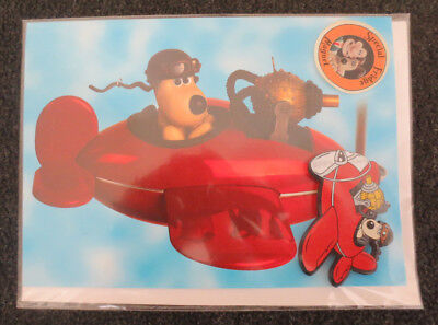 Lot 0f 3 Wallace and Gromit Gift Cards with Fridge Magnet.