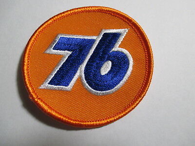 76 Patch Round Orange and Blue
