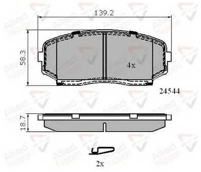 Bremsenteile VAUXHALL MOVANO A 2.8D Brake Pads Set Rear 98 to 01 S9W702 QH 4403467 9111467