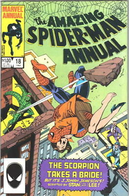 the Amazing Spider-Man Comic Book Annual #18 Marvel Comics 1984 NEAR MINT