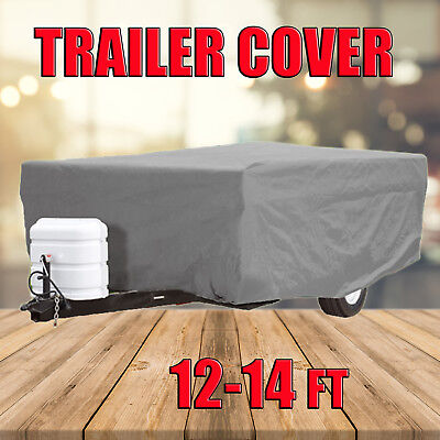 12-14FT Trailer Camper Cover UV Protection Water Repellent Polypropylen Fabric