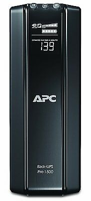 APC PowerSaving Back UPS Pro 10 Outlets 865W 1500VA Uninterruptible Power Supply