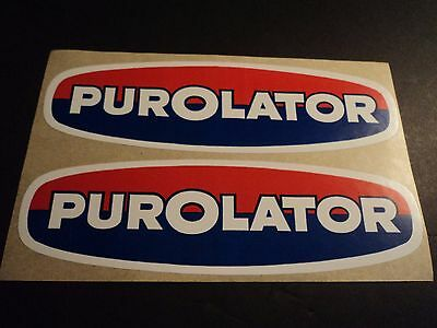 Lot of 2 vintage PUROLATOR oil filters racing decals stickers